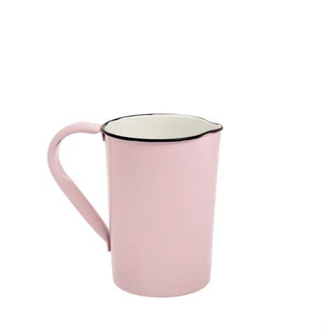 Indaba Medium Enamel Pink/Black Pitcher
