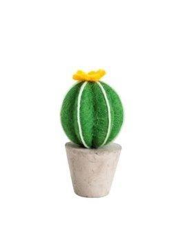 Indaba Yellow Flower Felt Cactus