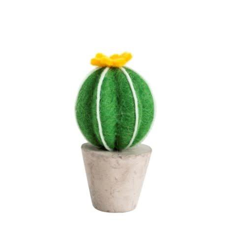 Indaba Cactus Feutre Fleur Jaune