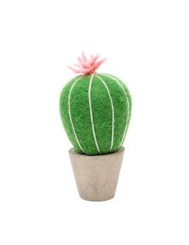 Indaba Cactus Feutre Fleur Rose