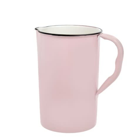 Indaba Large Enamel Pink/Black Pitcher