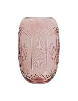 Bloomingville Pink Etched Vase