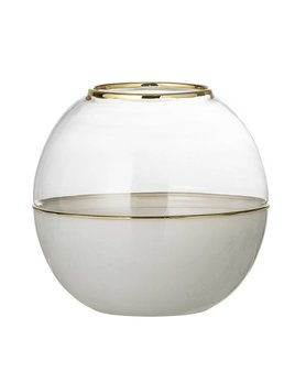 Bloomingville Vase Dome Blanc
