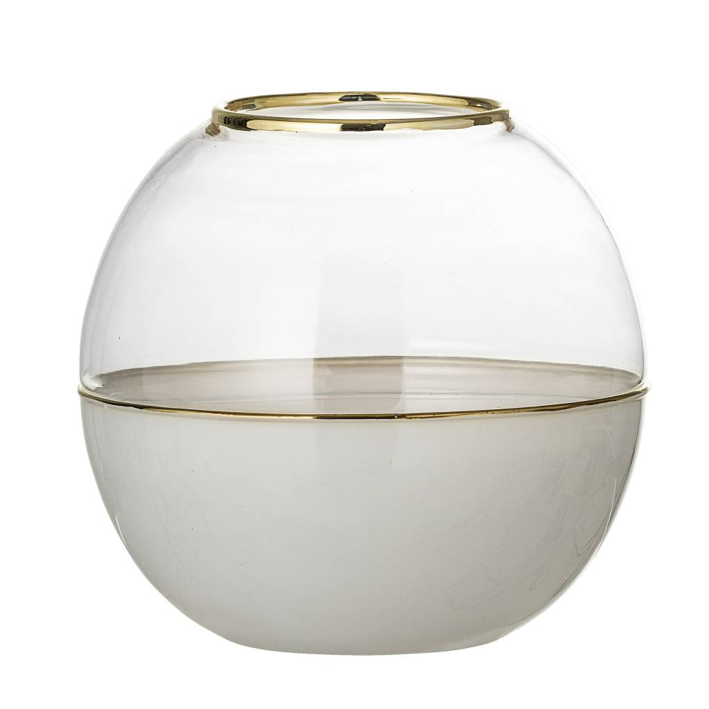 Bloomingville White Dome Vase