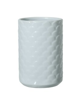 Bloomingville Blue Scalloped Vase