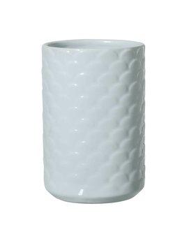 Bloomingville Vase Bleu Festonné