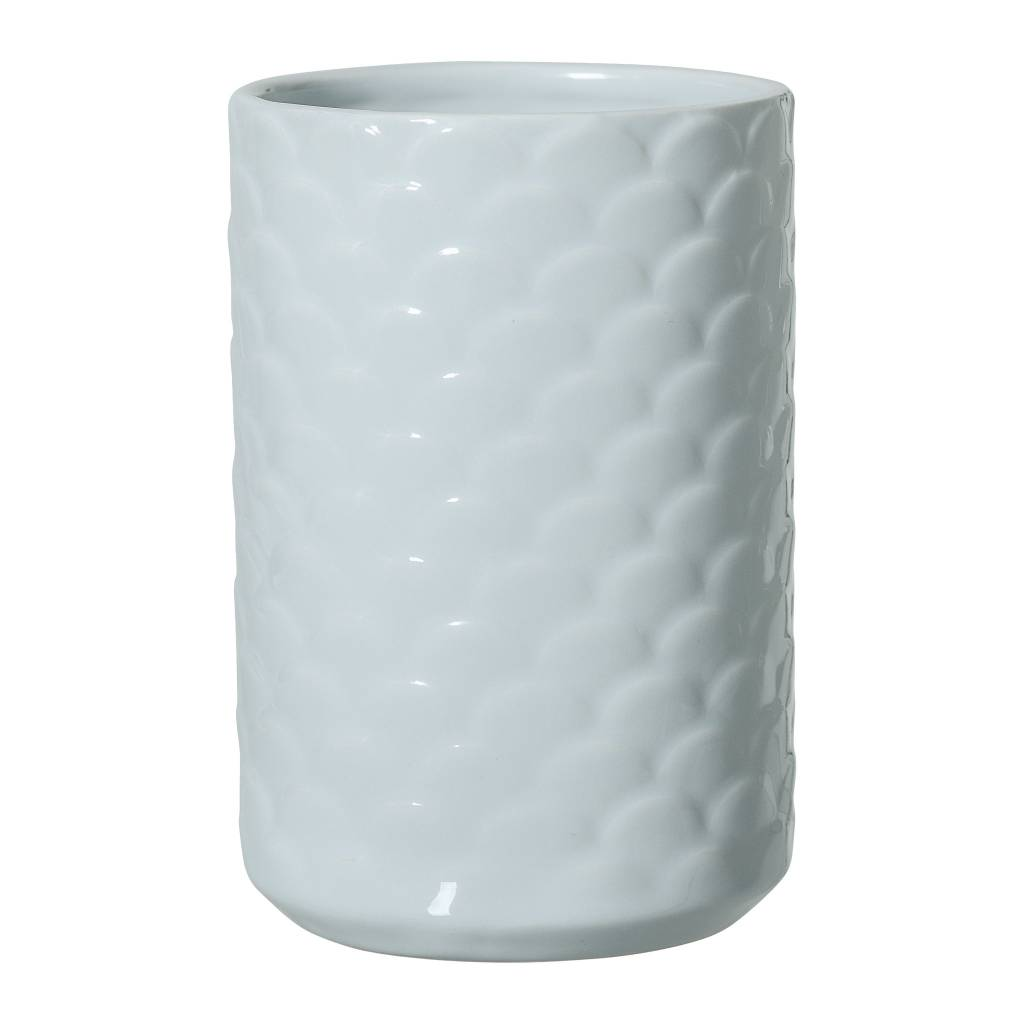 Bloomingville Blue Scalloped Vase