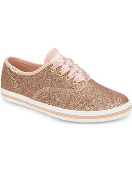 Rifle x Keds Rose Gold Glitter Champion Shoes