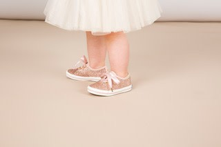 Rifle x Keds Baby Rose Gold Glitter Shoes