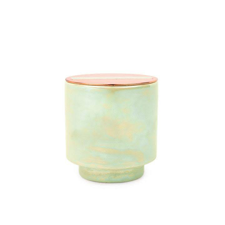 Small Glow Candle - White woods and Mint