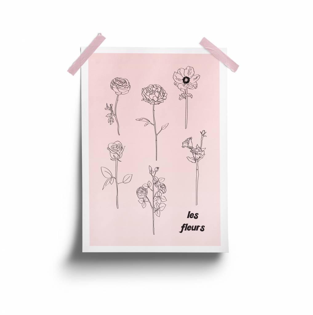 Fleur Maison Les Fleurs Poster