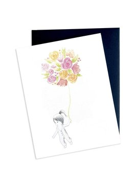 Hobeika Art Flower Girl Card