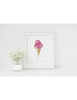 Hobeika Art Ice Cream Cone Poster