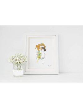 Hobeika Art Klimt Motherhood Poster