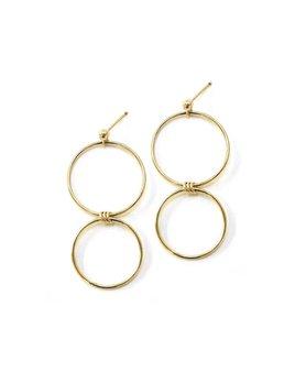 Hart and Stone Gold Oak Earrings