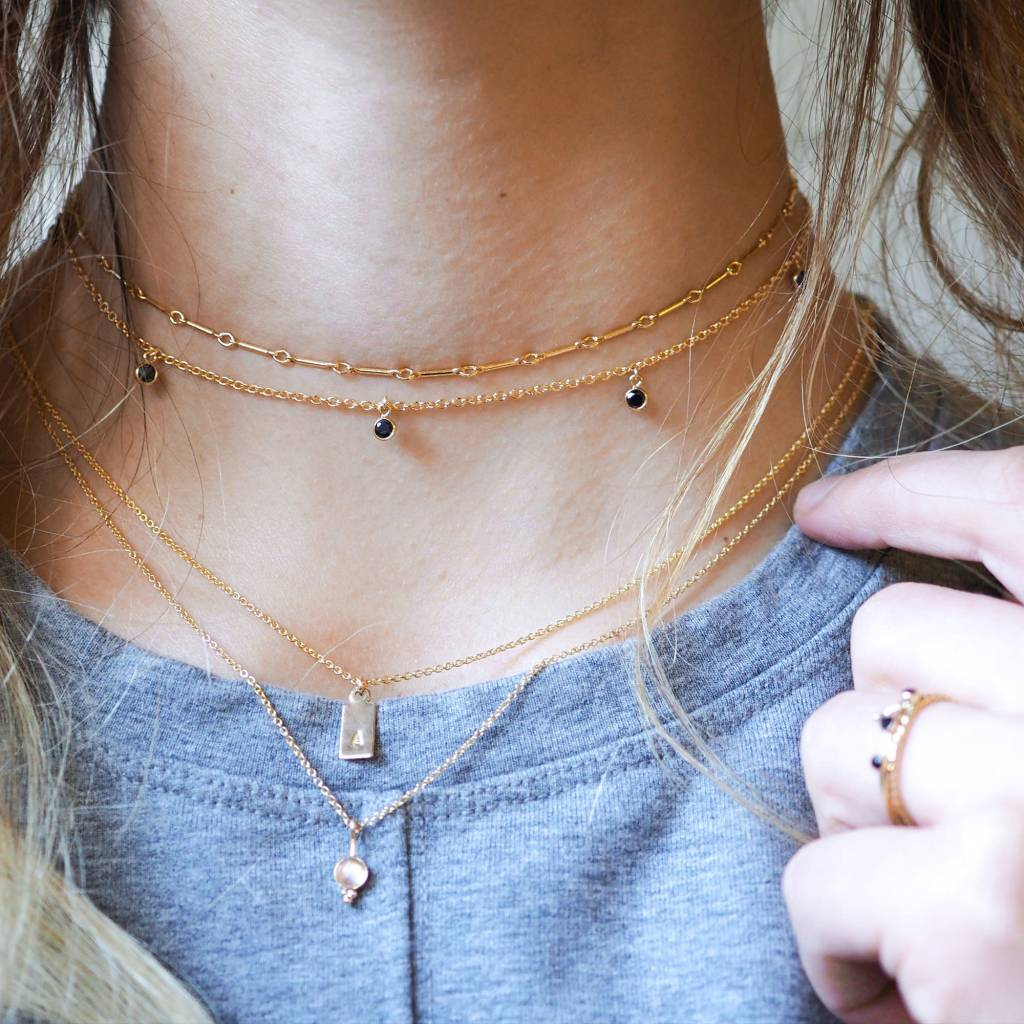 Hart and Stone Gold Ember Choker