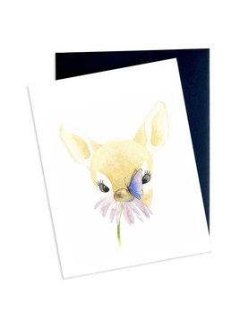Hobeika Art Deer and Butterfly Card