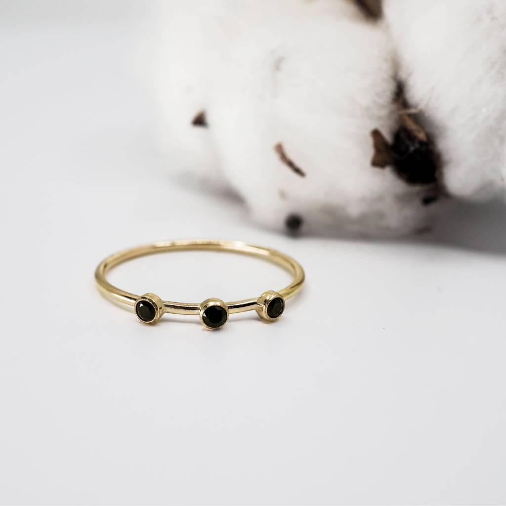 Hart and Stone Black and Gold Orion Ring