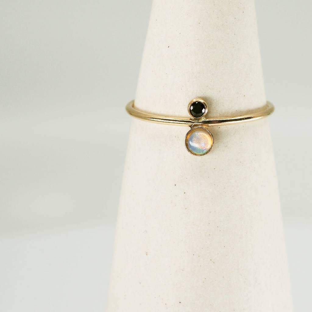 Hart and Stone Black and Gold Opal Terra Ring