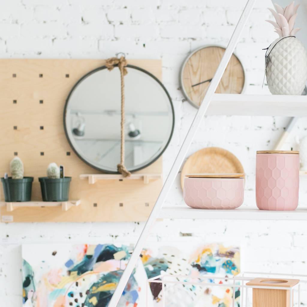 Design Home Jarre Rose Ronde - Grande
