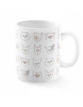 Fringe Studio Cats Doodles Mug