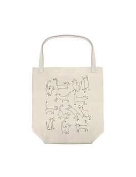 Fringe Studio Cats Canvas Tote Bag