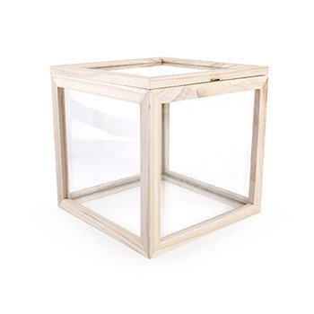 Kikkerland Square Glass Box
