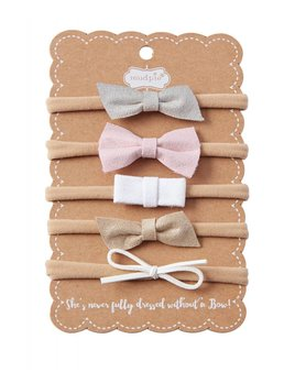 Mud Pie Leather Bow Set