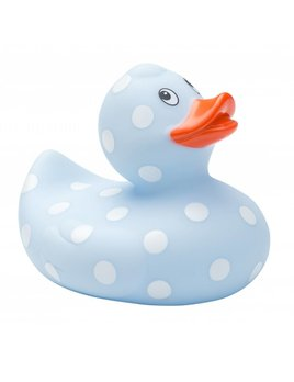 Elegant Baby Blue Polka Dot Bath Duck