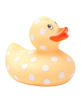 Elegant Baby Yellow Polka Dot Bath Duck