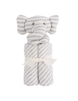 Elegant Baby Striped Elephant Blankie