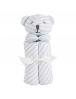 Elegant Baby Bear Striped Blankie