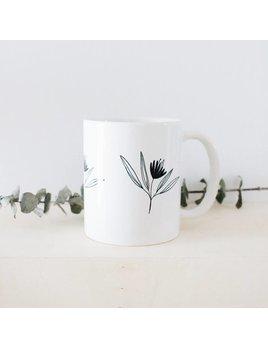 Natasha Prévost Illustrations Black Flower Mug