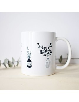 Natasha Prévost Illustrations Flower Pots Mug