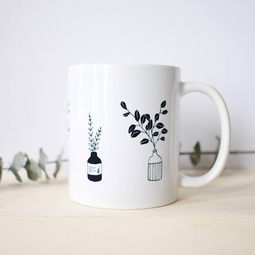 Natasha Prévost Illustrations Flower Pots Mug