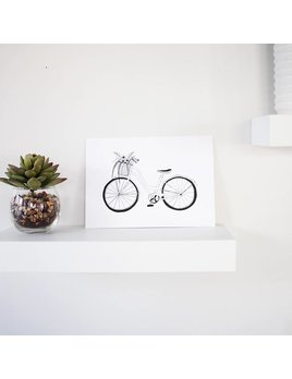 Natasha Prévost Illustrations Affiche Bicyclette Du Printemps