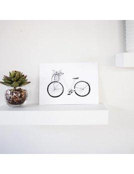 Natasha Prévost Illustrations Affiche Bicyclette Du Printemps