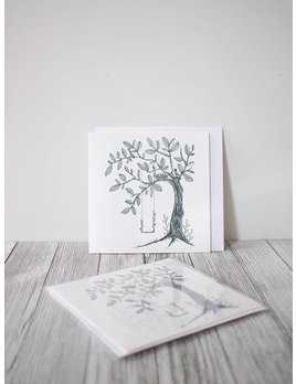Natasha Prévost Illustrations Little Swing Greeting Card