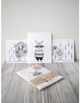 Natasha Prévost Illustrations Animals Greeting Cards