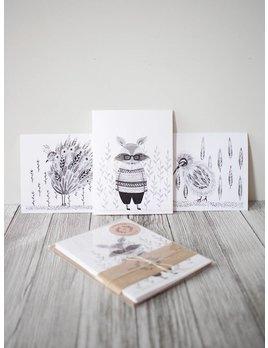 Natasha Prévost Illustrations Cartes de Souhaits Animaux