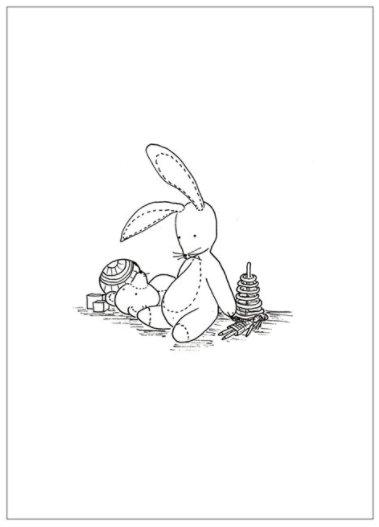 Natasha Prévost Illustrations Plush Bunny Print