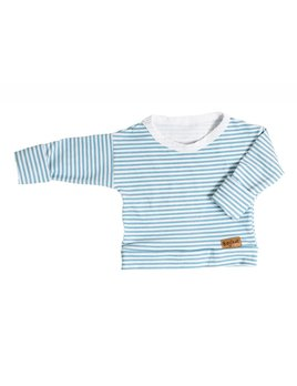 Bajoue Blue Striped Sweater