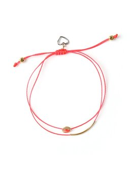 Si Simple Bracelet Luna Or et Corail