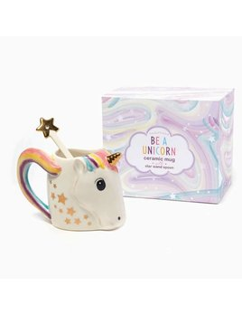 Two's Company Unicorn Mug With Star Stirrer