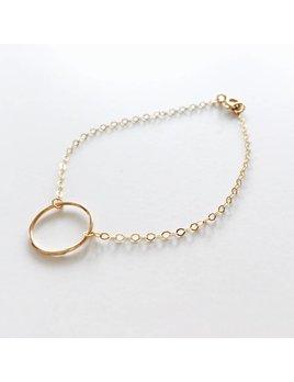 L'AUNE Bracelet Pleine Lune Or