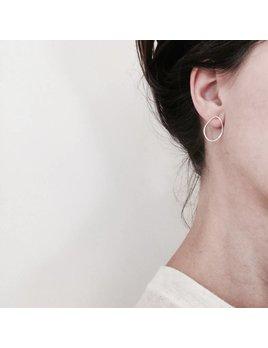 L'AUNE Silver Rocca Small Earrings