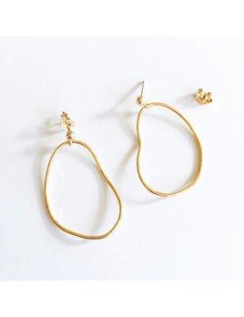 L'AUNE Gold Rocca Earrings