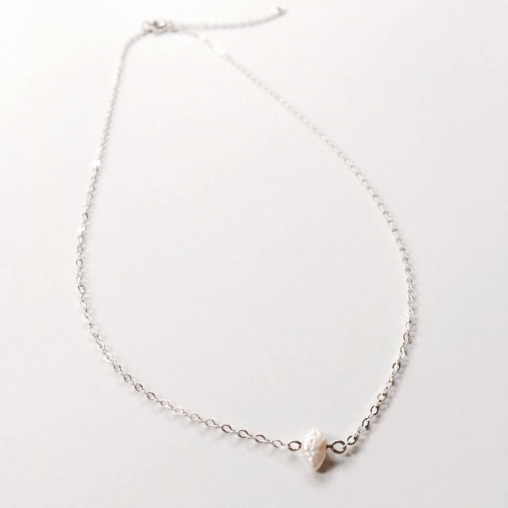 L'AUNE Freshwater Pearl Silver Necklace
