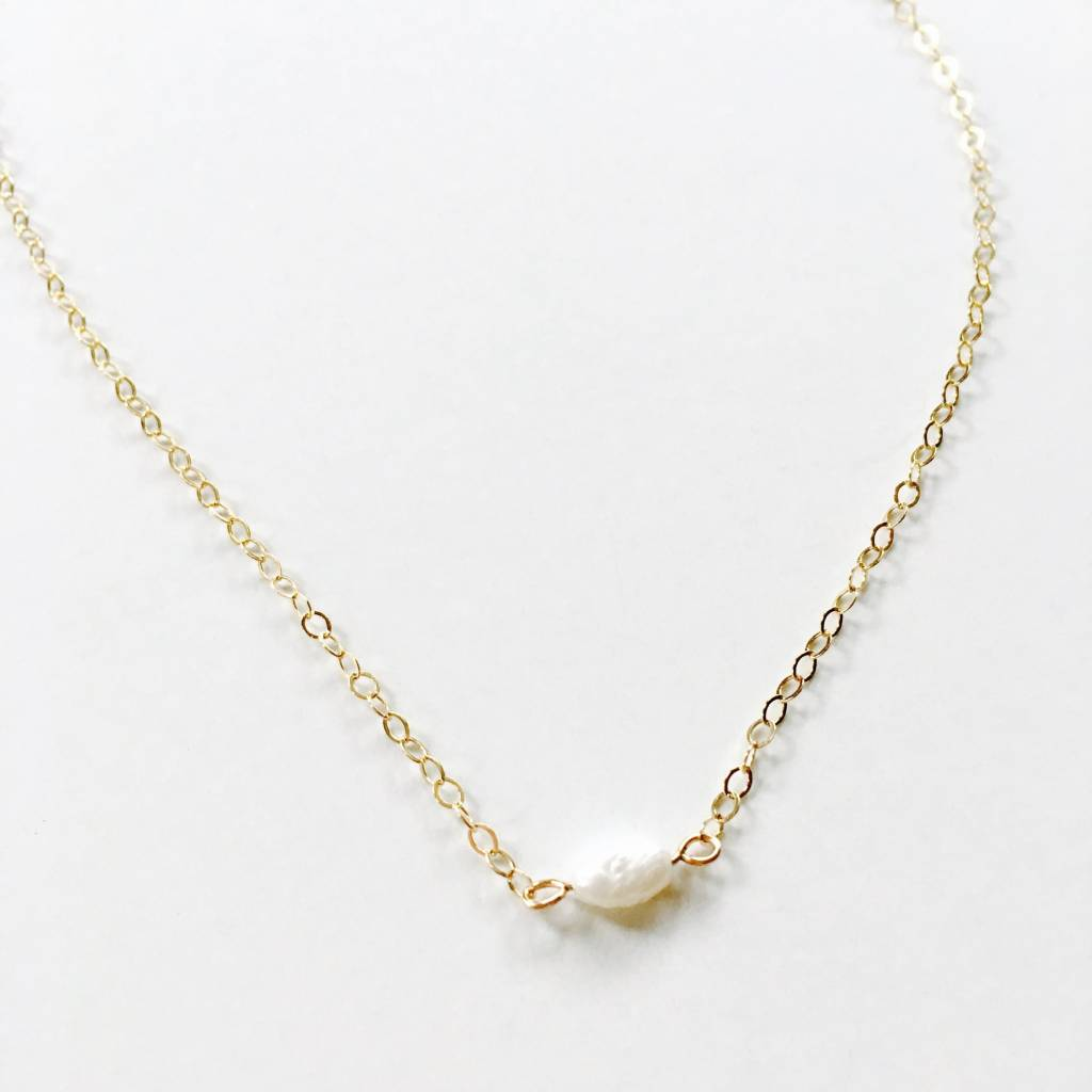 L'AUNE Freshwater Pearl Gold Necklace
