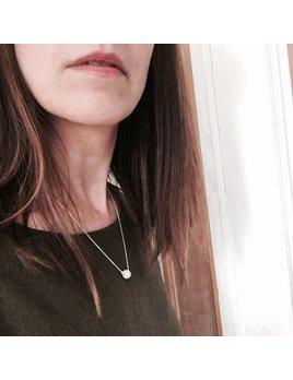 L'Aune Bijoux Collier Nacre Blanc Argent